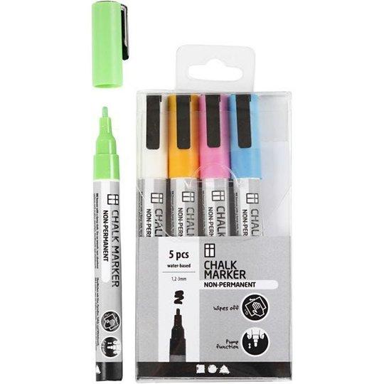 Creativ Company Chalk Markers Sterke Farger 5 stk