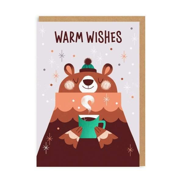 Warm Wishes Bear Christmas Card