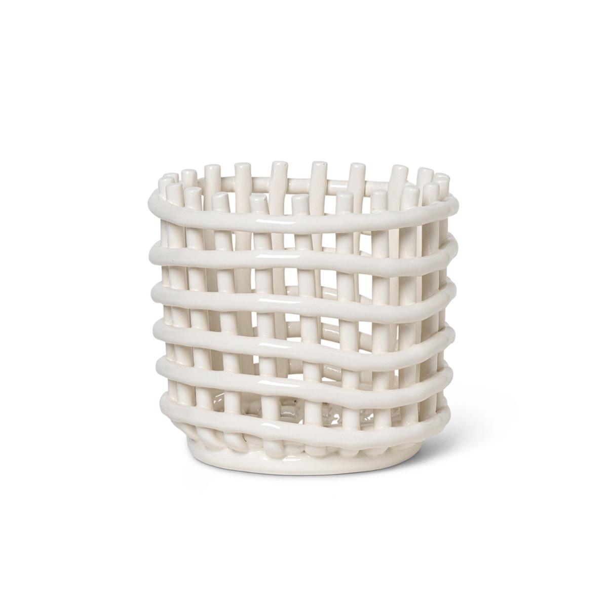 Ferm Living Korg i Keramik Off White