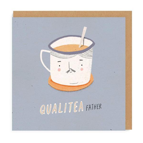 Quali-tea Dad Square Greeting Card
