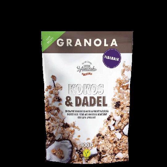 Granola Kokos & Dadel, 400 g