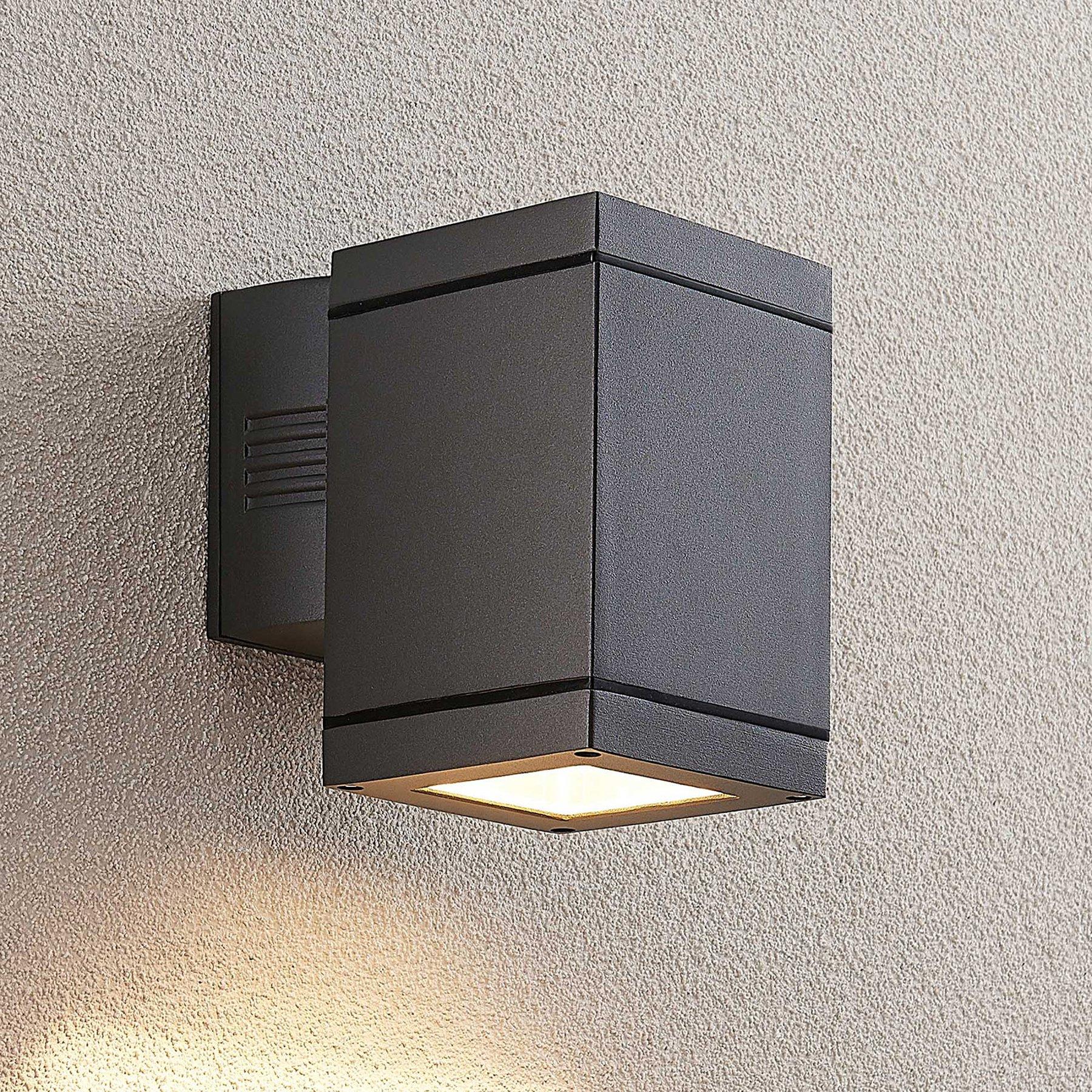 Lucande Stani utendørs vegglampe, E27, 1 lyskilder