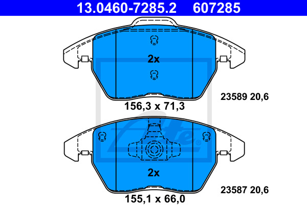 Jarrupalasarja, levyjarru ATE 13.0460-7285.2