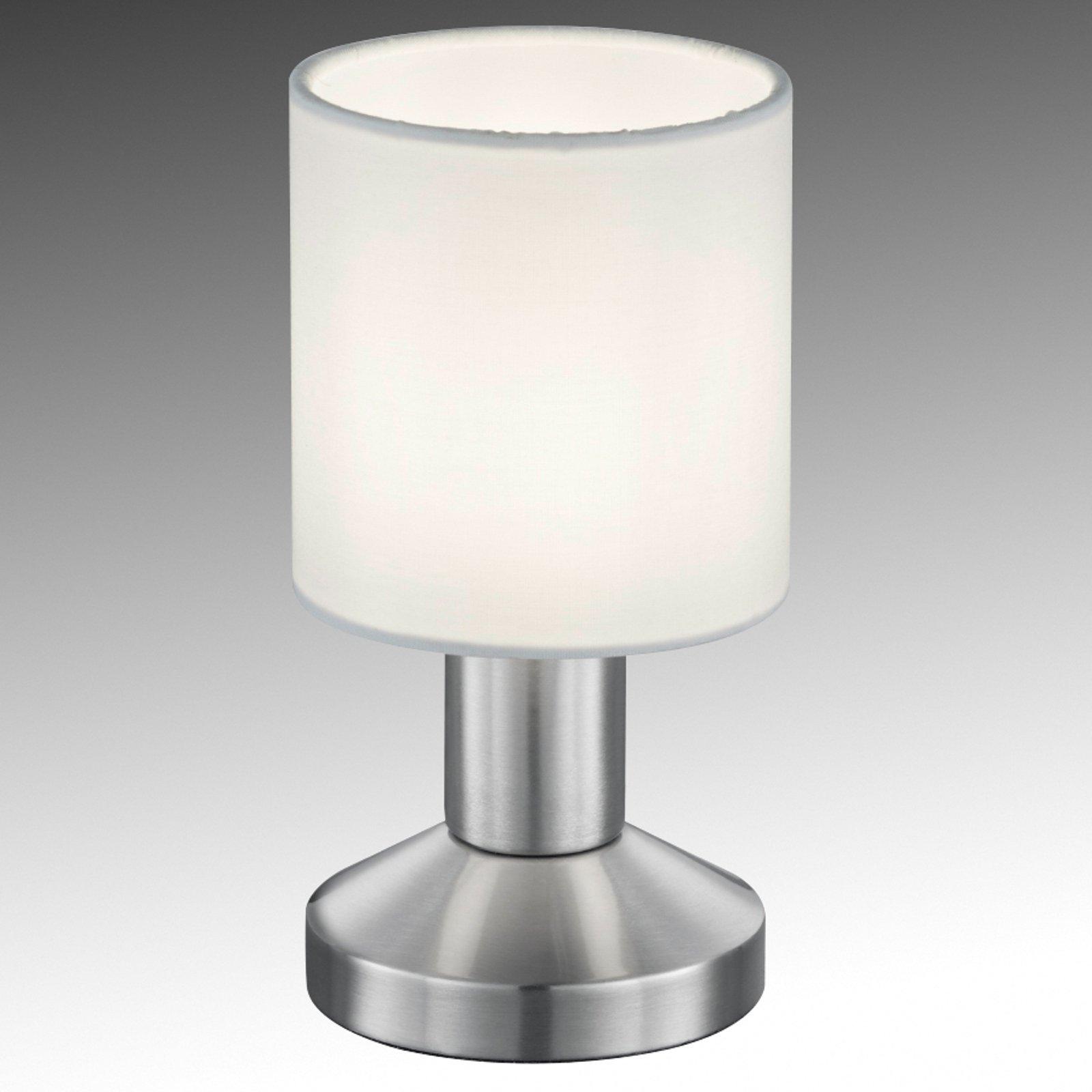 Tekstil-bordlampe Garda med hvit skjerm