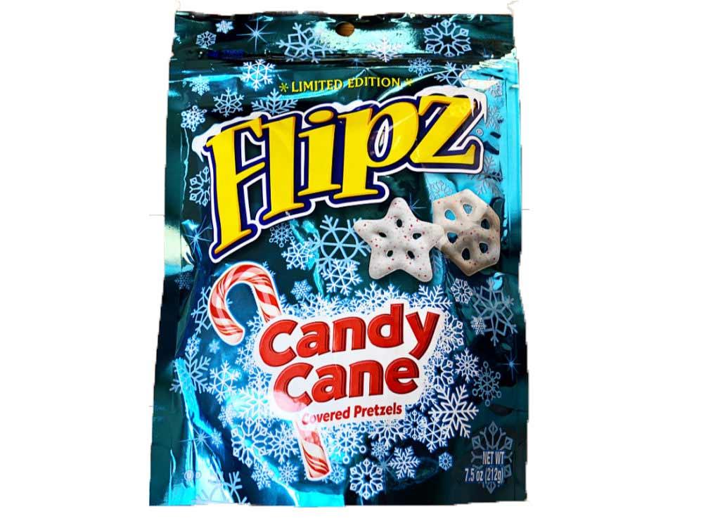 Flipz Candy Cane Pretzel Snowflakes 212g