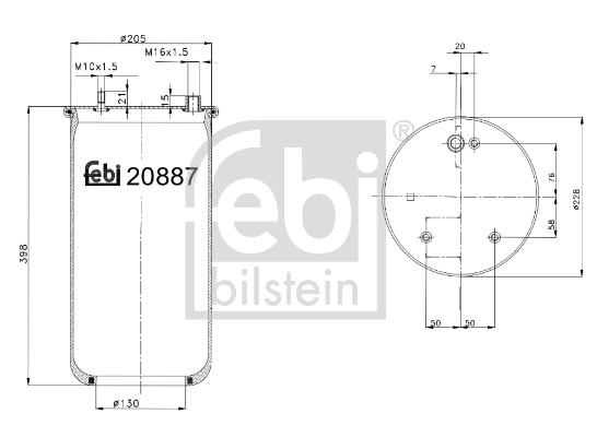 Metallipalje, ilmajousitus FEBI BILSTEIN 20887