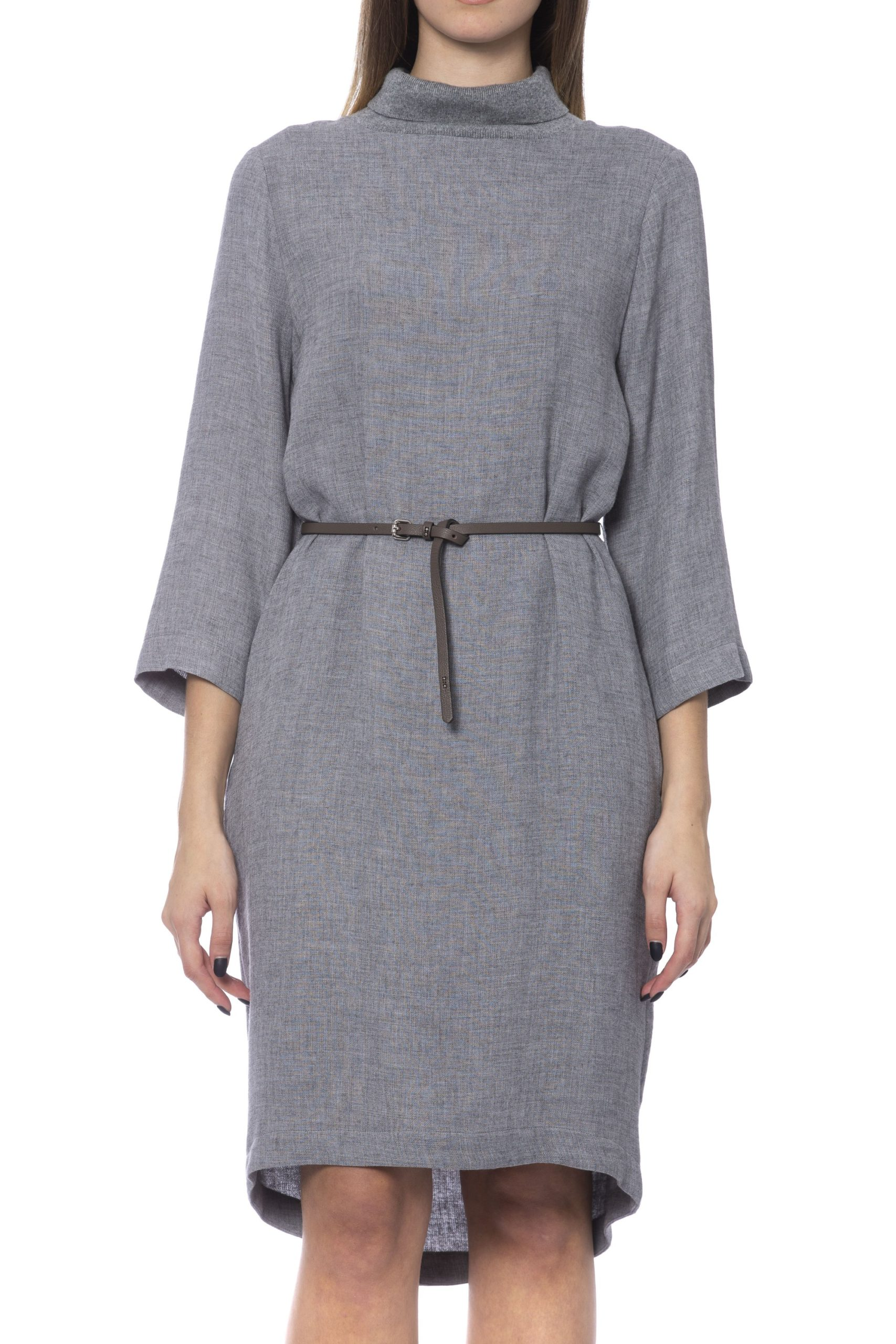 Peserico Women's Dress Grey PE993800 - IT42 | S