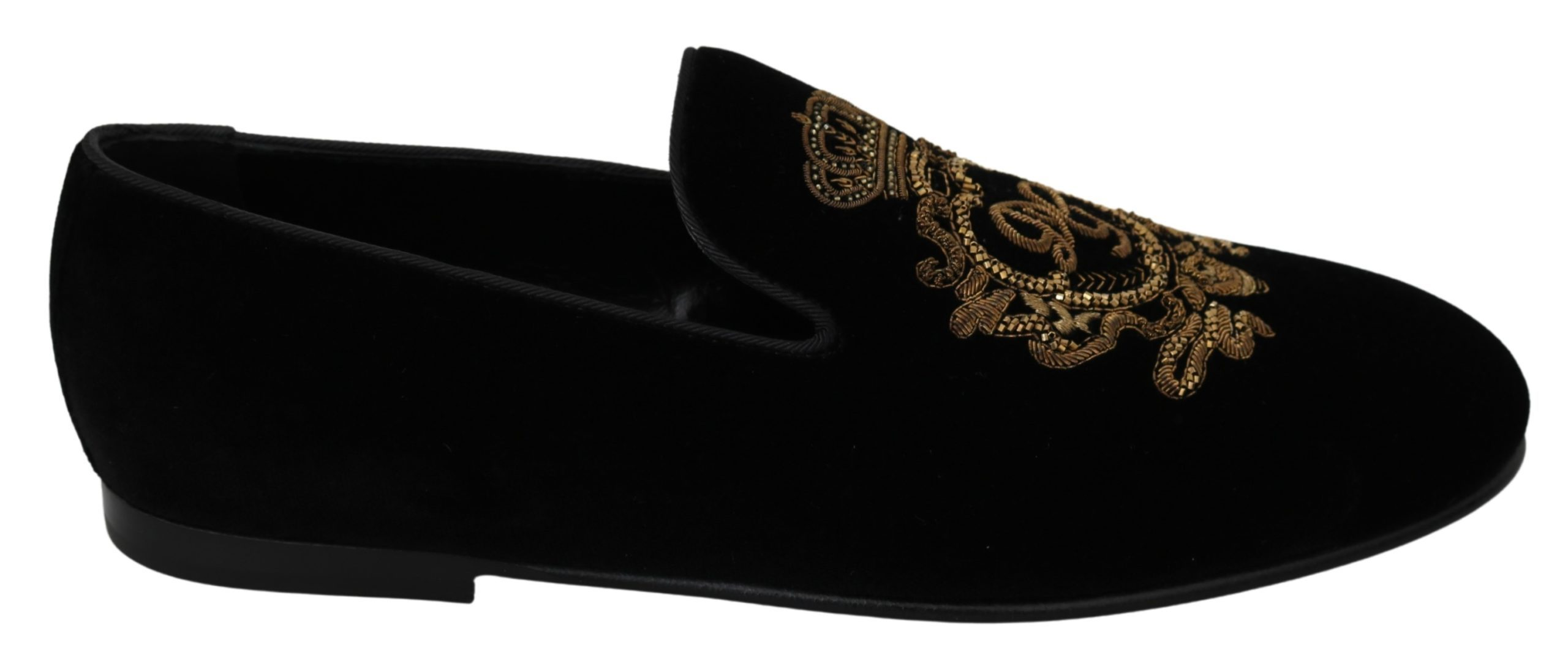 Dolce & Gabbana Men's Logo Loafers Black MV2862 - EU41.5/US8.5
