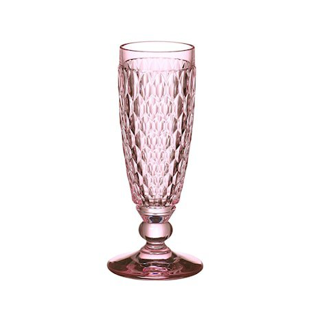 Boston Coloured Champagne Flute Rose