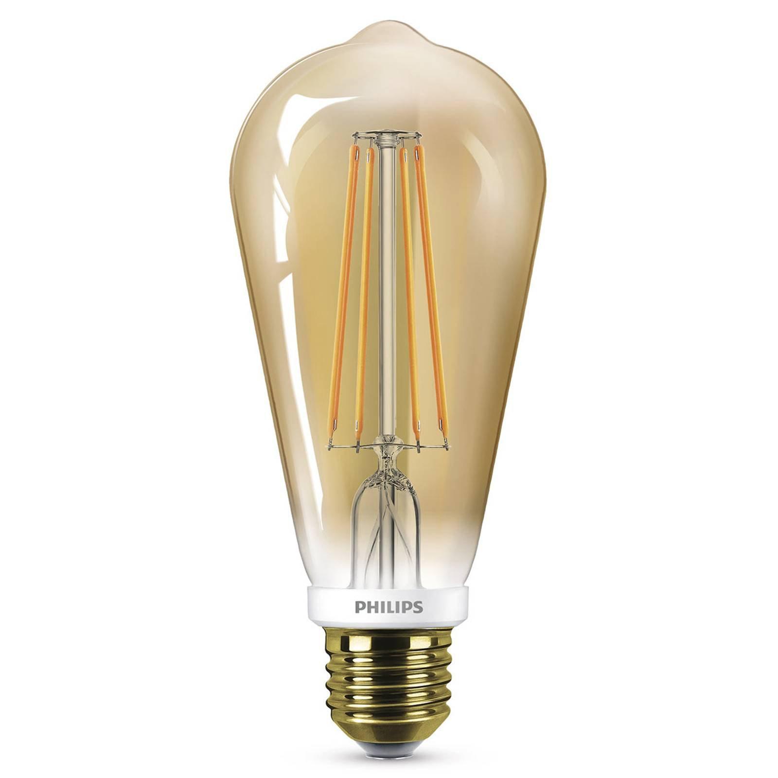 Philips LED-pære E27 ST64 5,5 W gull, dimbar