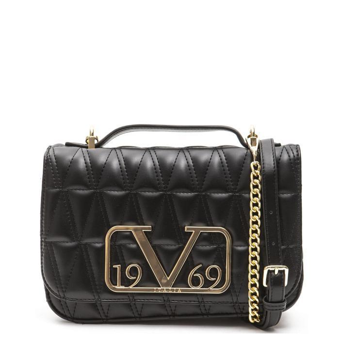19v69 Italia Women's Shoulder Bag Various Colours 318906 - black UNICA