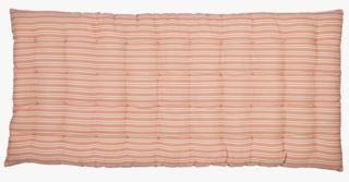 Bolster large stripe istuintyyny vaalea koralli