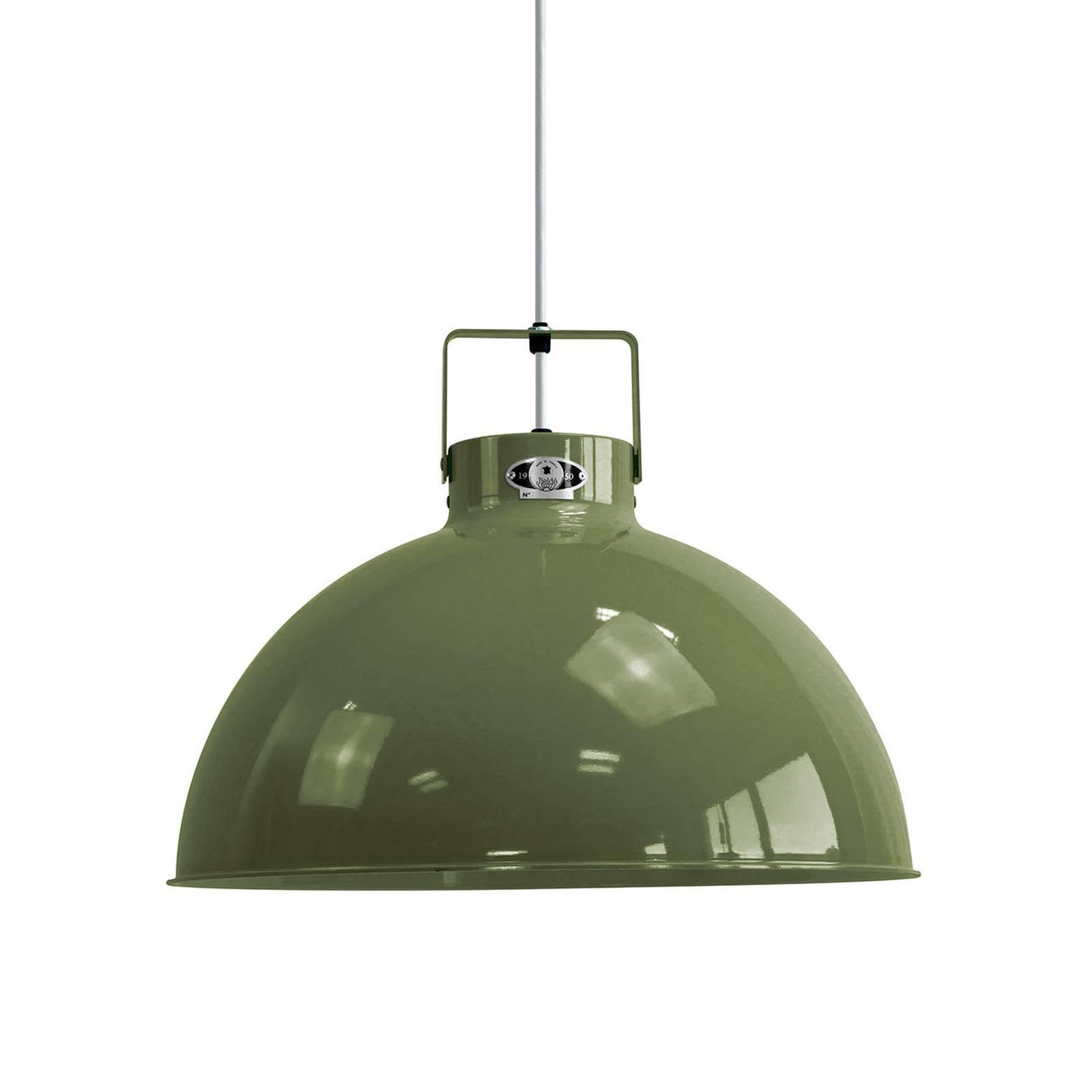 Jieldé Dante D450 hengelampe, olivengrønn, Ø 45 cm