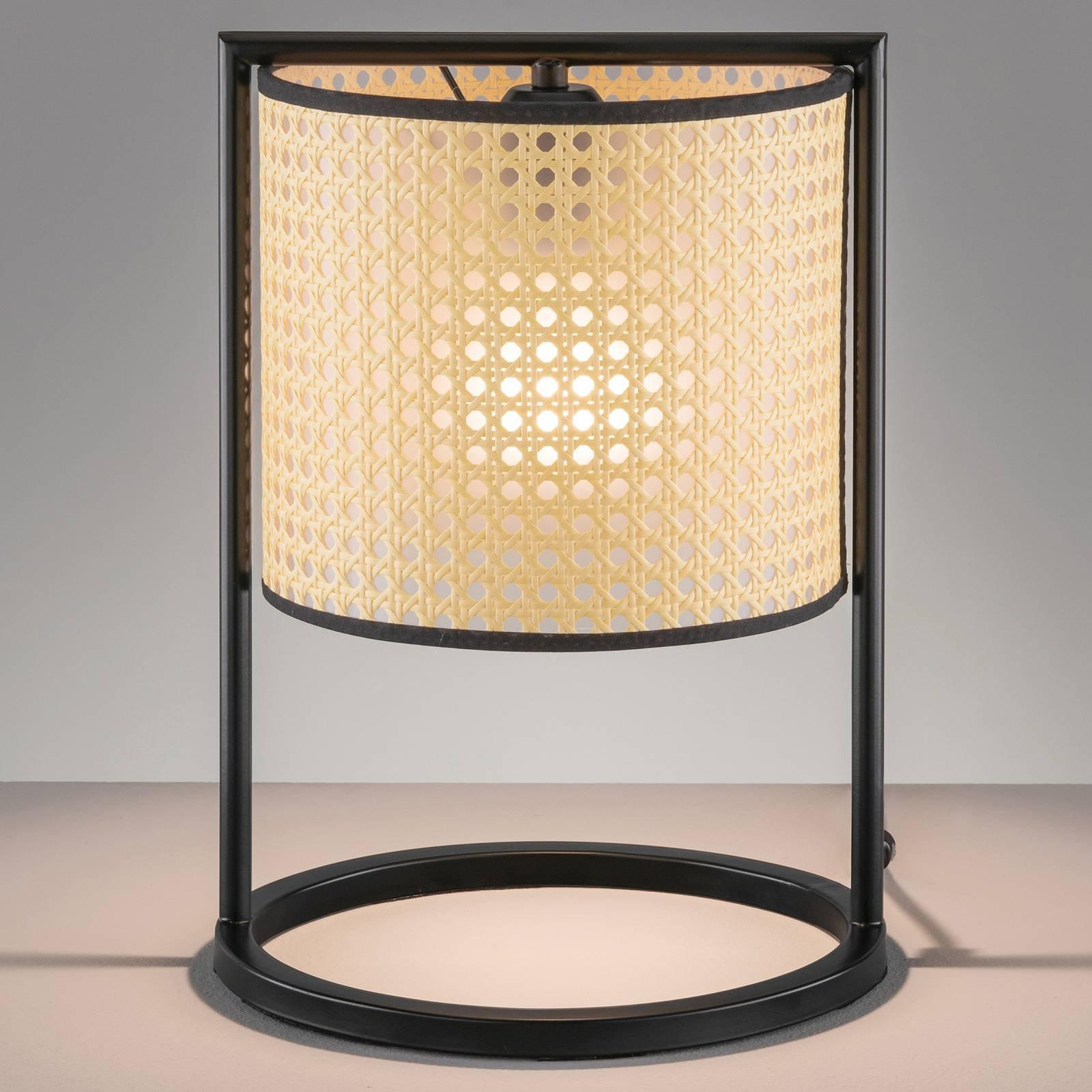 Bordlampe Tyler med flettet utseende, høyde 36 cm