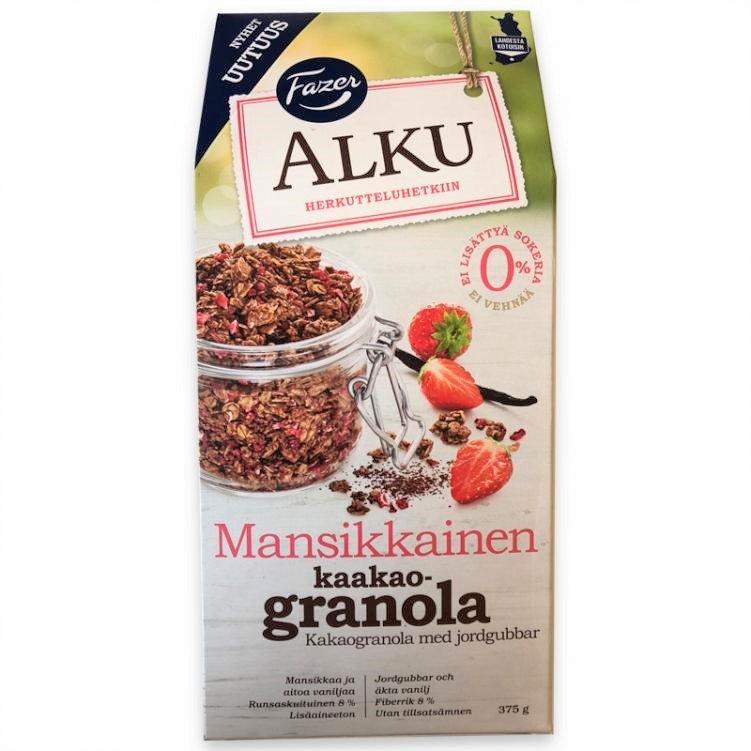 """Granola """"Kakao och Jordgubbar"""" 375g - 89% rabatt"""