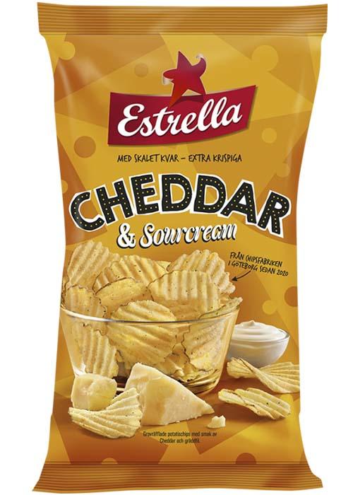 Estrella Cheddar Sourcream Chips 175g