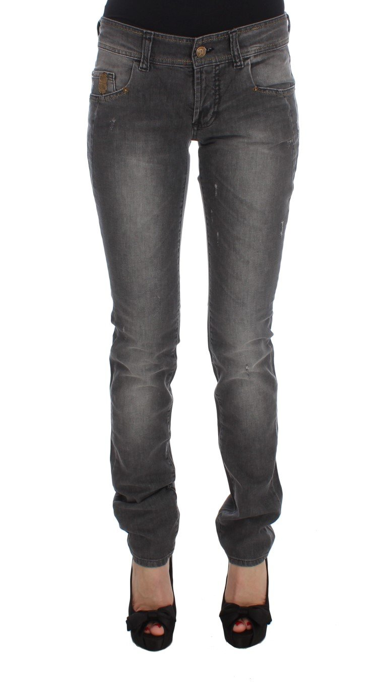 John Galliano Women's Cotton Blend Slim Fit Stretch Jeans Gray SIG30178 - W25