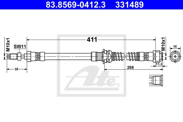 Jarruletku ATE 83.8569-0412.3