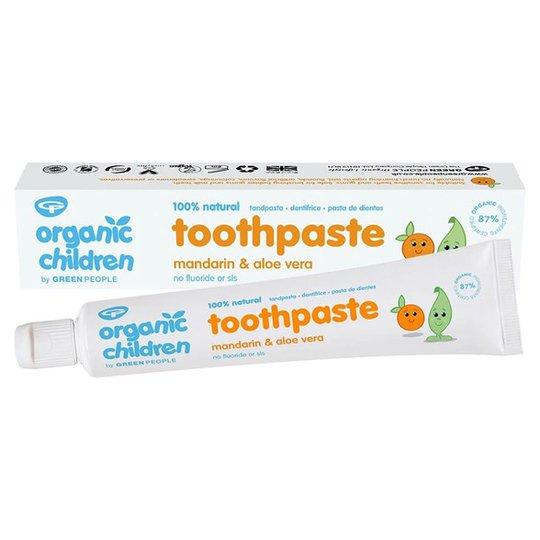 Organic Children Tandkräm för barn Mandarin & Aloe Vera, 50 ml