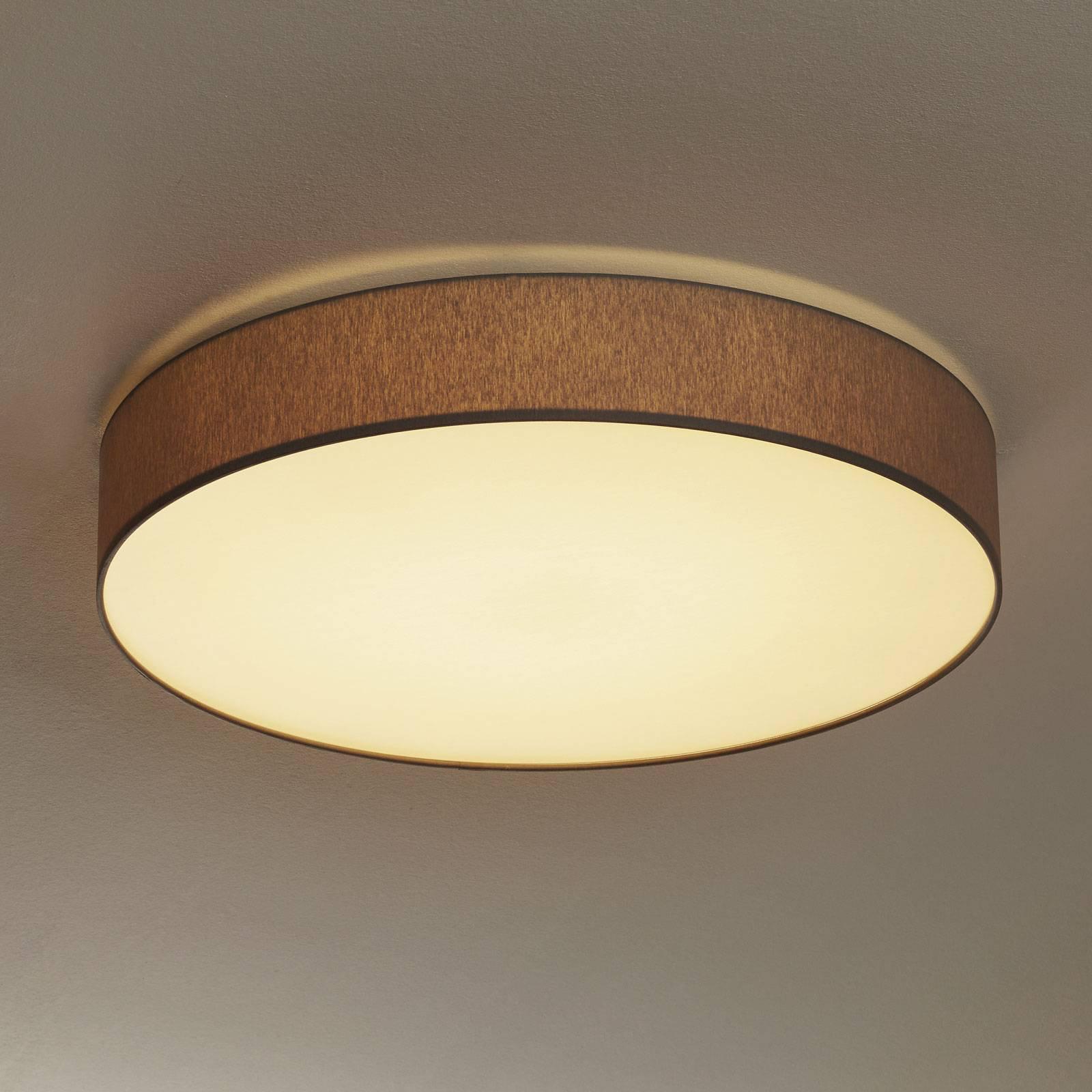 Dimbar LED-taklampe Luno, lysegrå