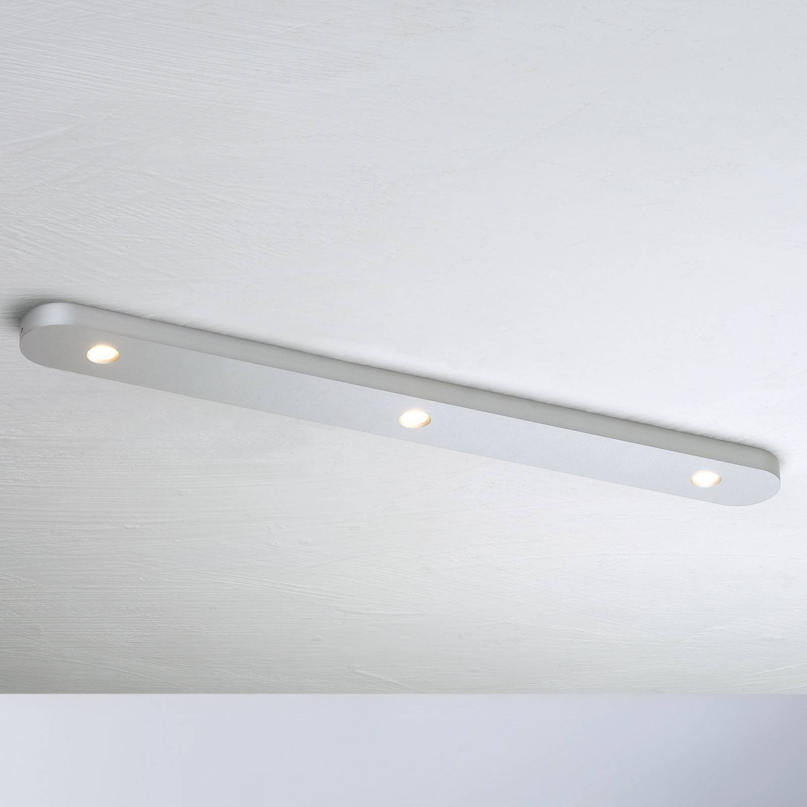 Bopp Close LED-taklampe, tre lyskilder alu