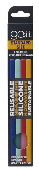 Gosili Sugerør 4-pack, Rainbow