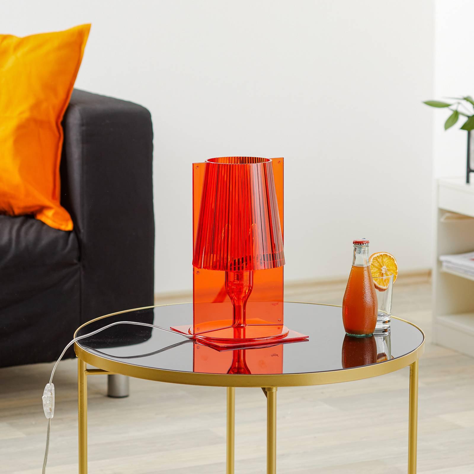 Kartell Take bordlampe, oransje