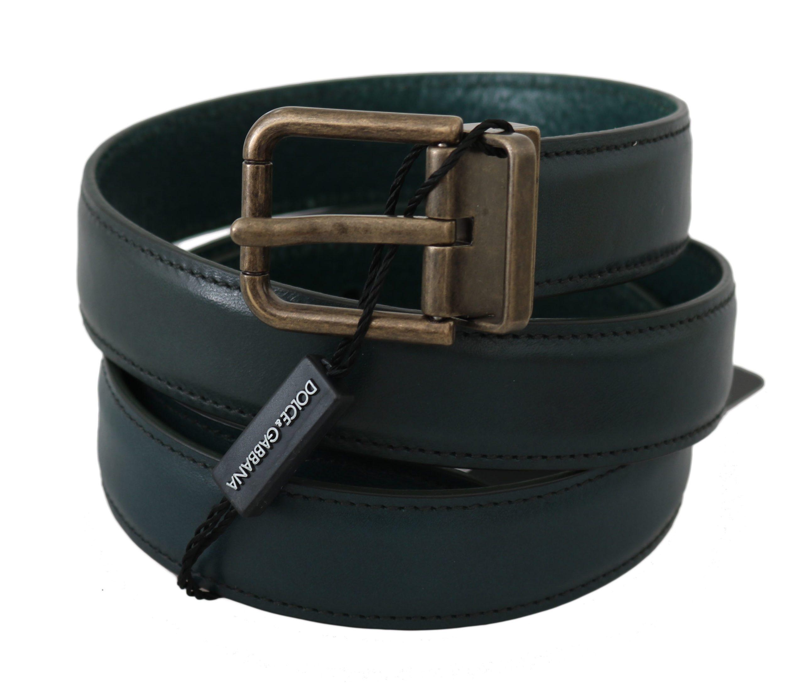 Dolce & Gabbana Men's Calfskin Leather Buckle Belt BEL60348 - 100 cm / 40 Inches