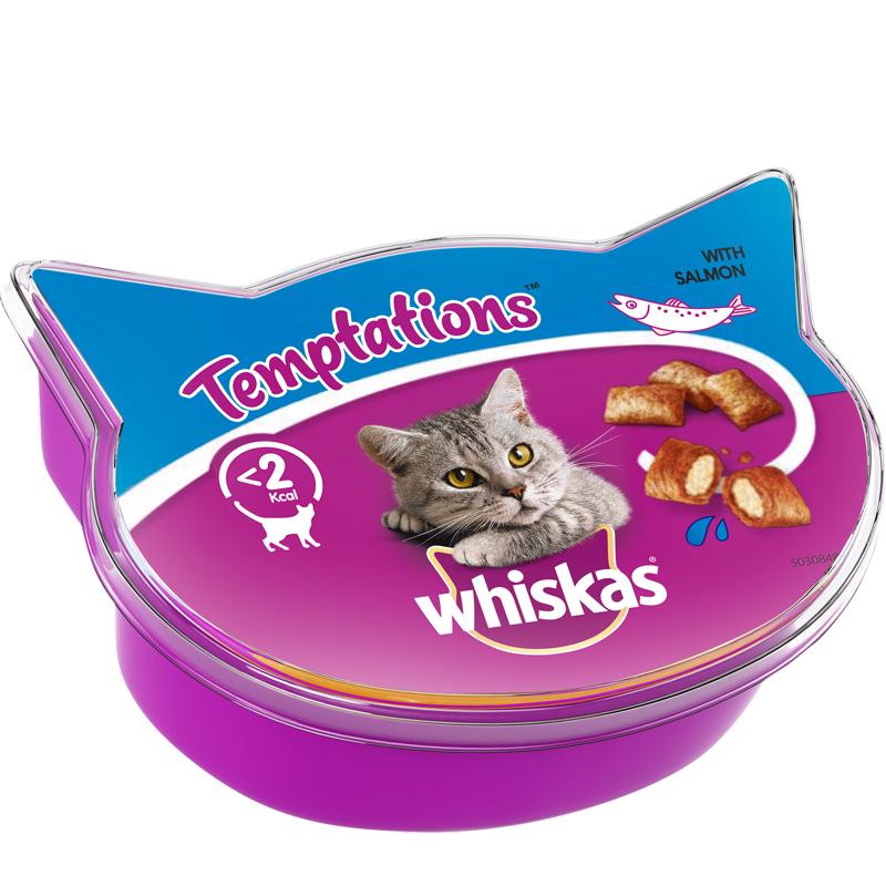 Kissanruoka Temptations Lohta - 19% alennus