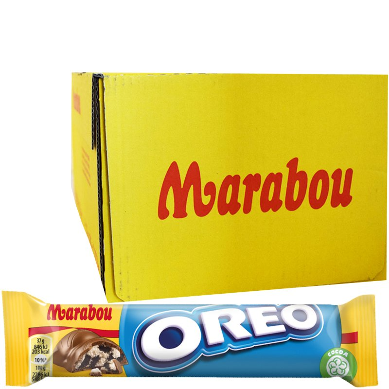 """Laatikollinen Suklaapatukoita """"Oreo"""" 36 x 37g - 47% alennus"""