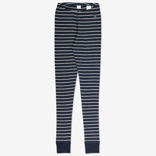 Merinoull stripet bukse voksen mørkblå