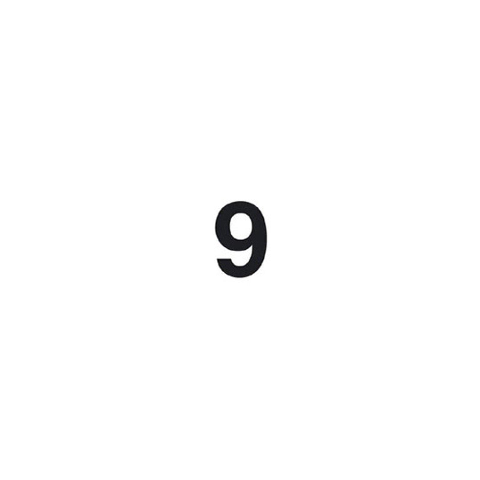 Selvklebende tallet 9