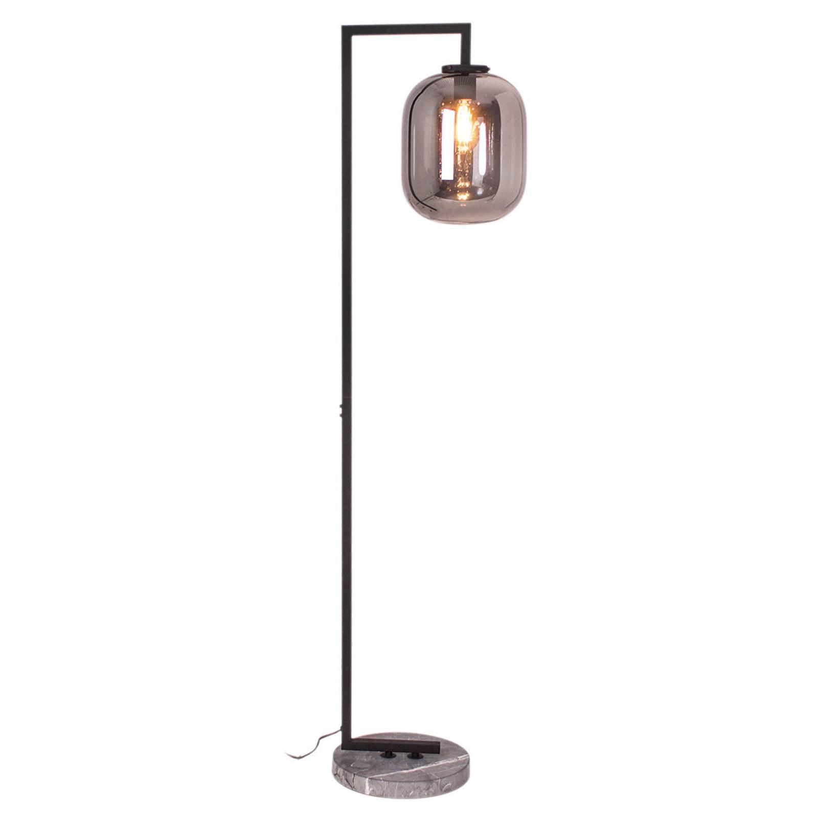 By Rydéns Leola glass-gulvlampe i røykgrå