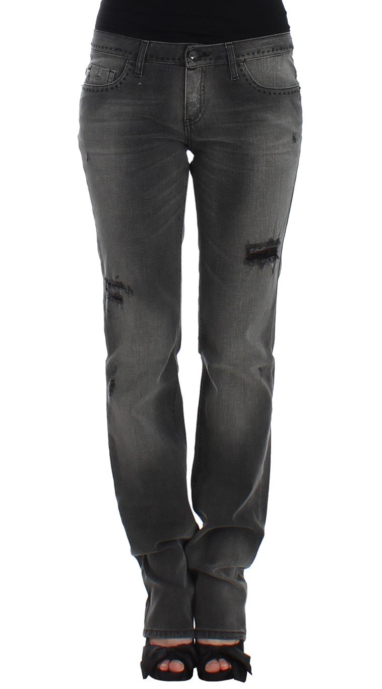Costume National Women's Straight Leg Jeans Gray SIG12557 - W28