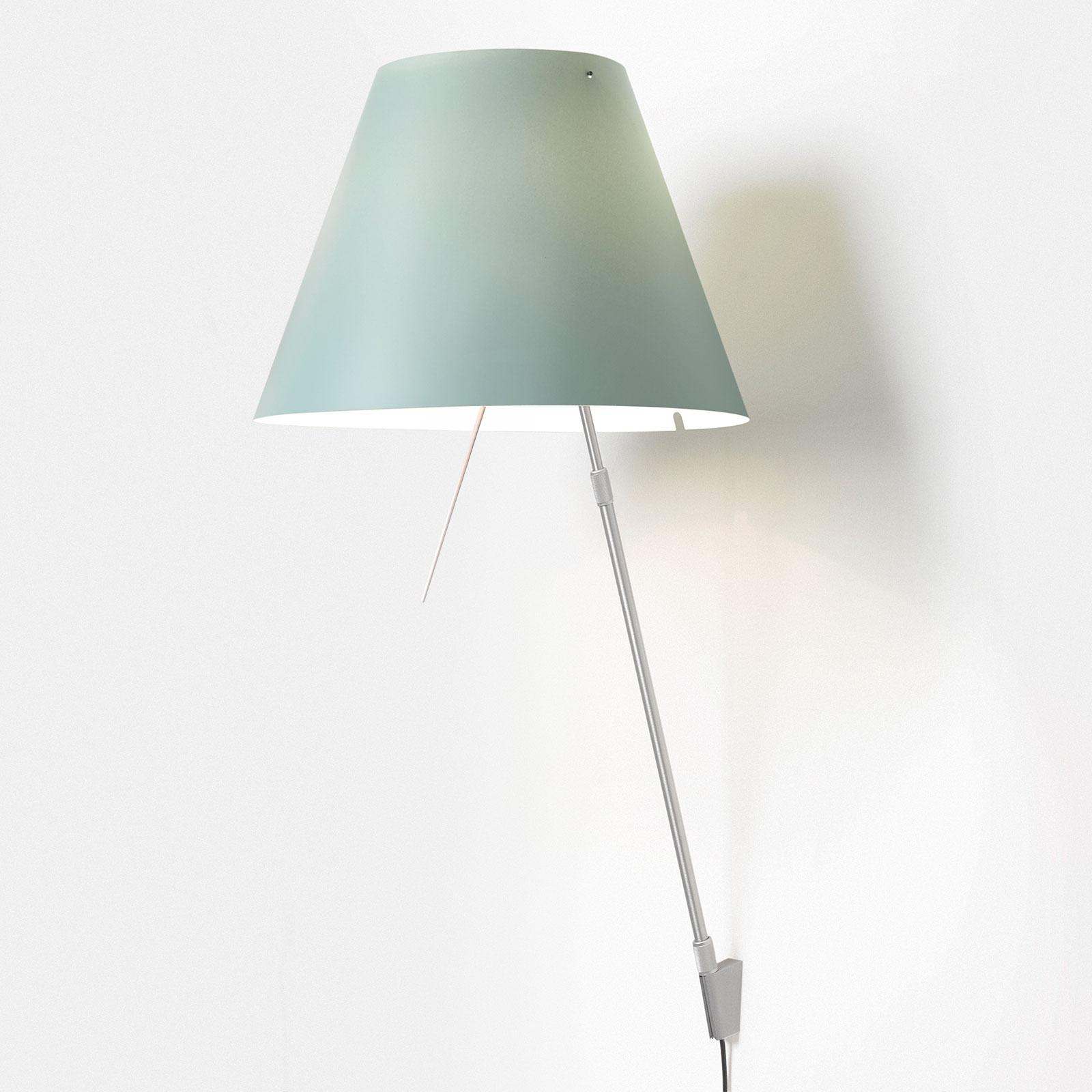 Luceplan Costanza D13a, alumiini/vihreä