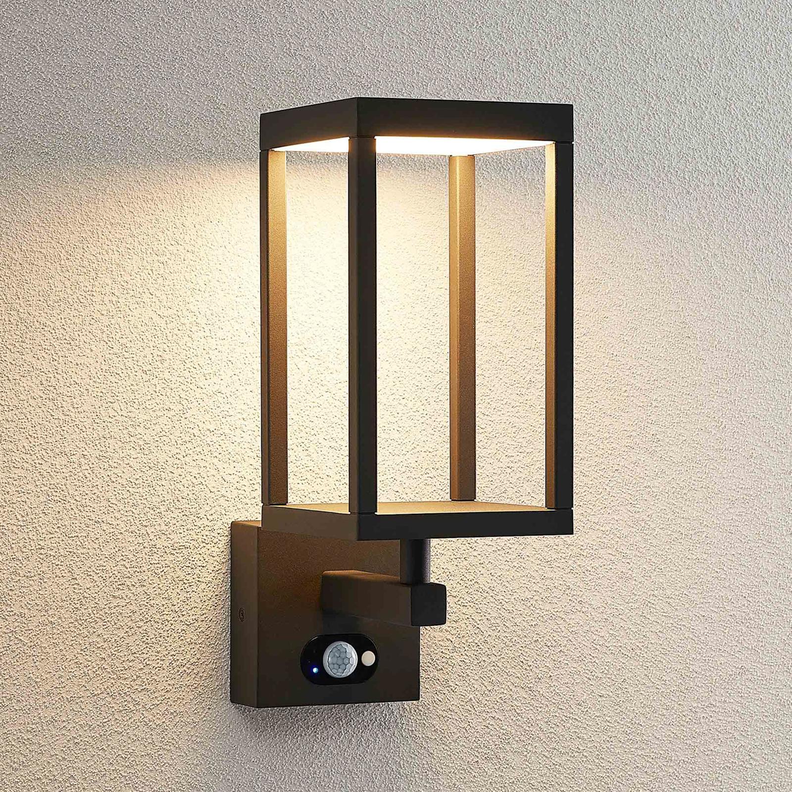 Lucande Qimka -LED-ulkoseinävalaisin, sensori
