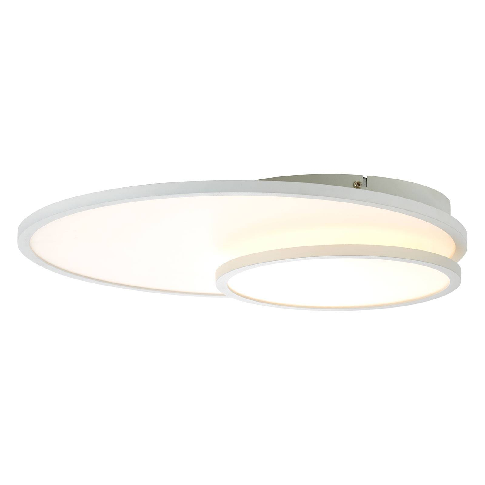 LED-kattovalaisin Bility, pyöreä, valkoinen kehys