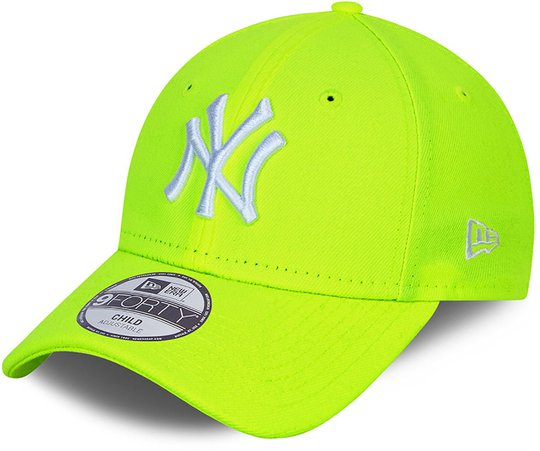 New Era NYY Neon Pack 9Forty Caps, Uppright Yellow, 4-6 Jahre
