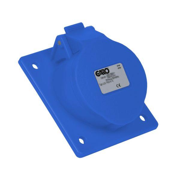 Garo UIS 232-6 S Paneelin ulostulo IP44, 3-napainen, 32A, viisto Sininen, 6 h