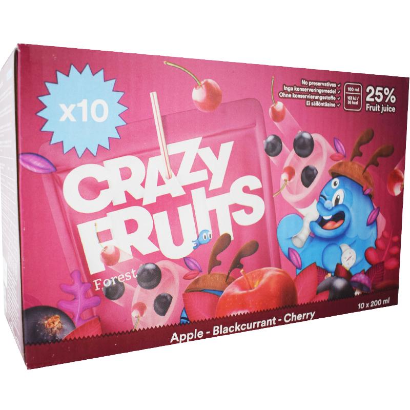 Crazy Fruits Forest 10 x 20cl - 37% rabatt
