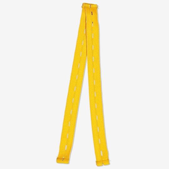 Fotstrikk i forskjellige farger gul