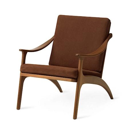 Lean Back Lounge Chair Nabuk Terra Teak