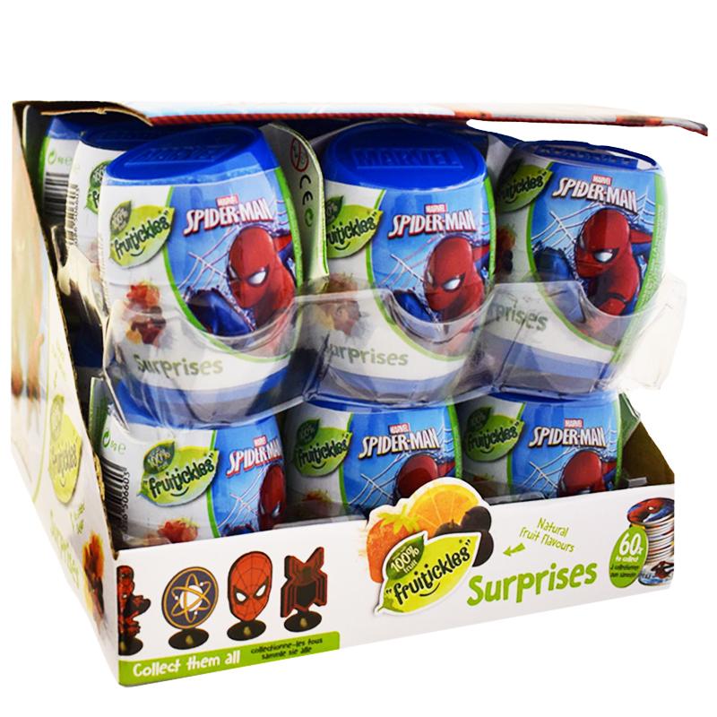 """Laatikollinen Viinikumimakeisia """"Spider-Man"""" 18 x 6g - 80% alennus"""