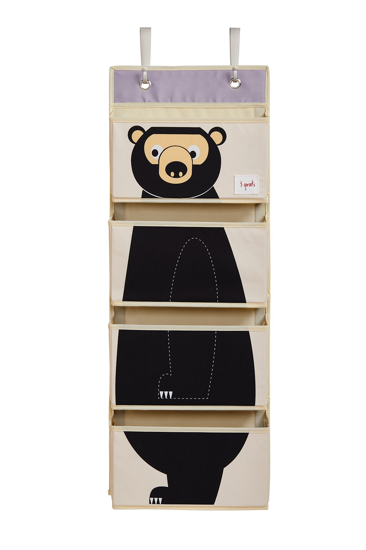 3 Sprouts - Hanging Wall Organizer - Black Bear