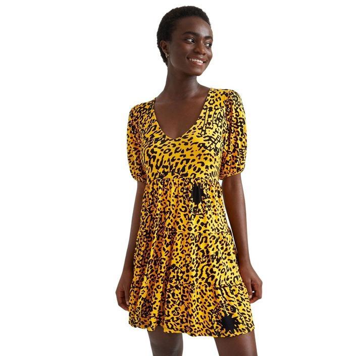 Desigual - Desigual Women Dress - yellow XS
