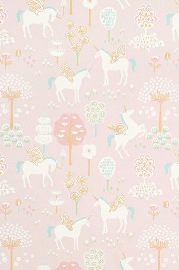 Majvillan Tapet True Unicorns, Rosa