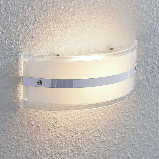 Lasinen seinävalaisin Zinka LED-lamppu, 25 cm