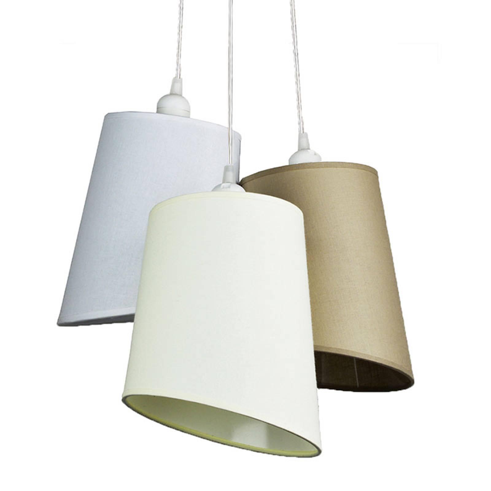 Riippuvalo Verona 3-lamp. valkoinen/écru/beige