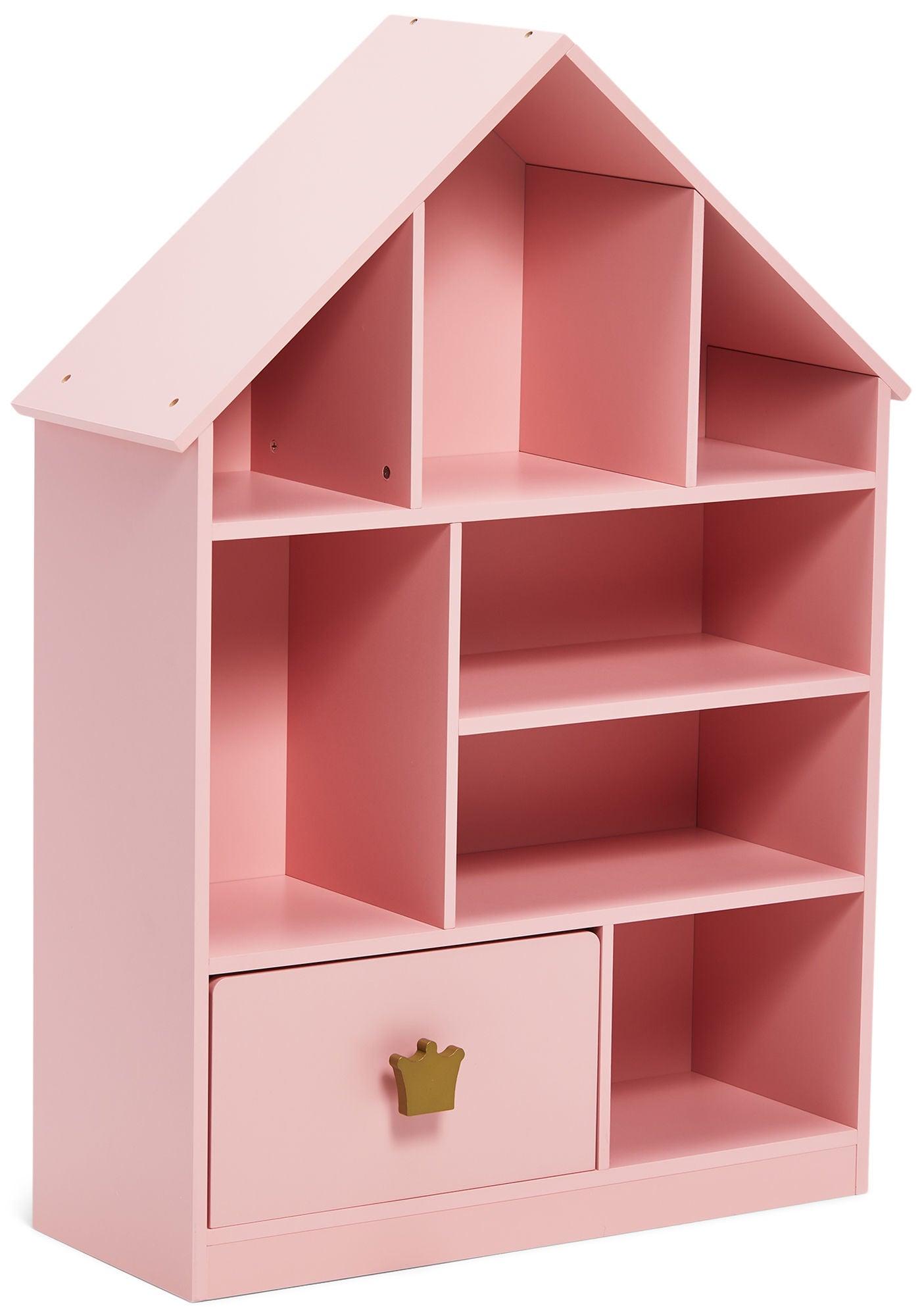 Alice & Fox Laatikollinen Kirjahylly Princess, Vaaleanpunainen