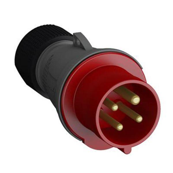 ABB 2CMA101960R1000 Pistotulppa 4-napainen, 16 A, CEE 316-P11, punainen